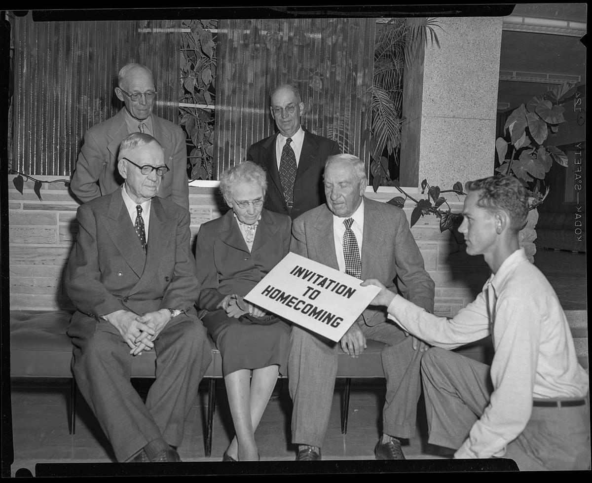 An invitation to USU's Homecoming, 1953