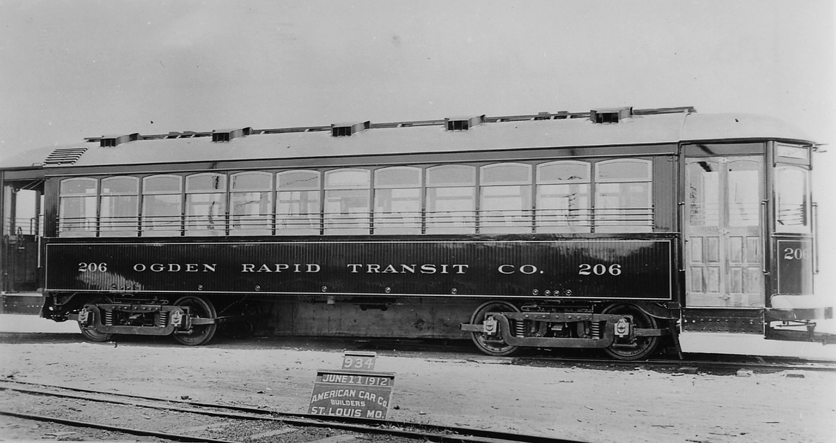 O.R.T. Engine #206 Delivered to Ogden, Utah, 1912<br />