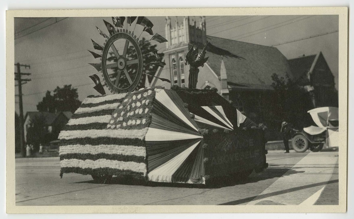 Logan Rotary Fourth of July Parade Float, c. 1920