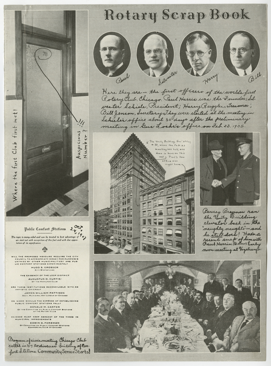 Rotary Scrapbook Page, undated