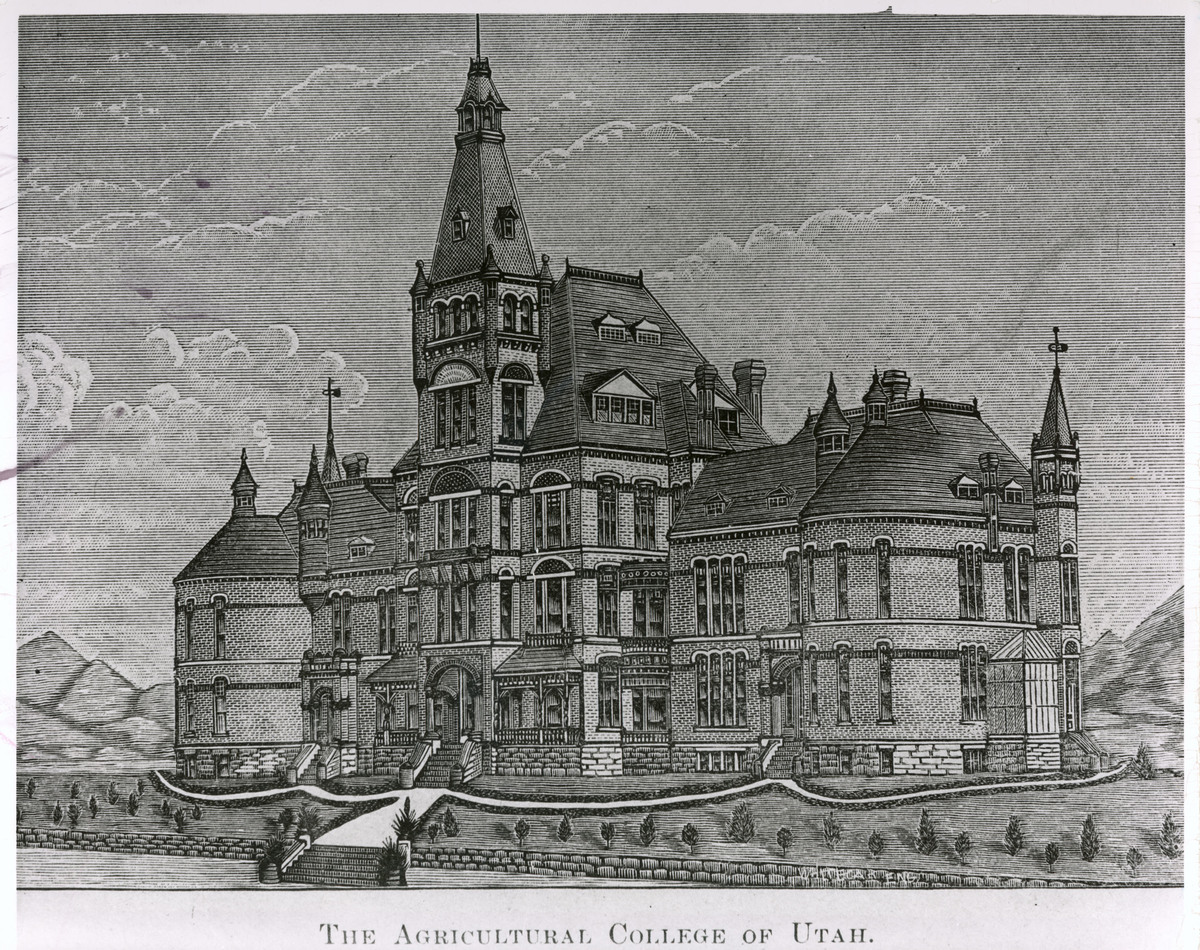 Old Main architectural drawing, 1889<br />