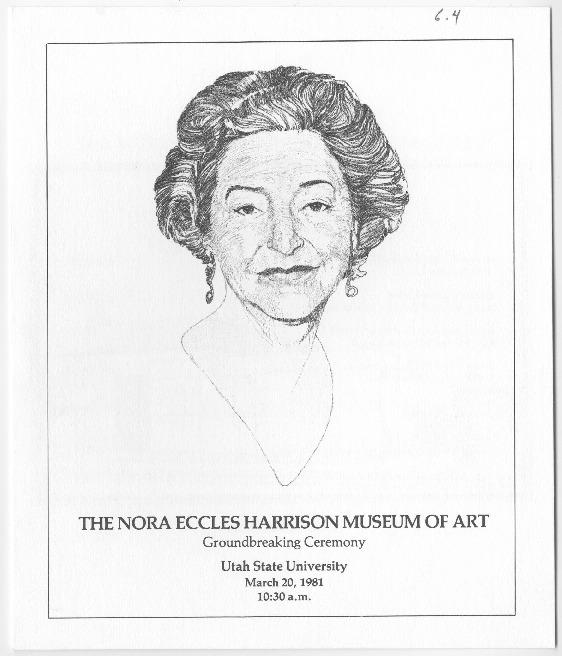 Nora Eccles Harrison Museum of Art ground breaking ceremony program, 1981
