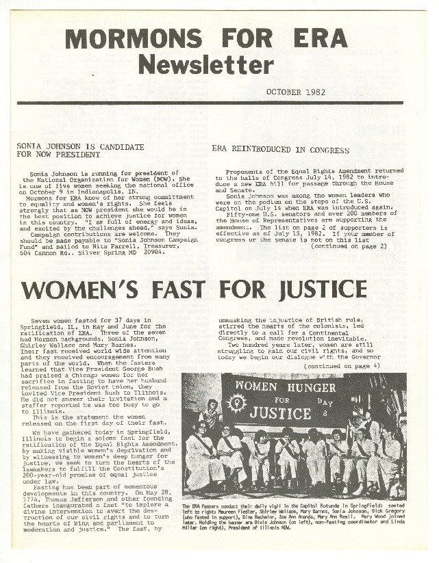 """""""Women's Fast for Justice"""""""
