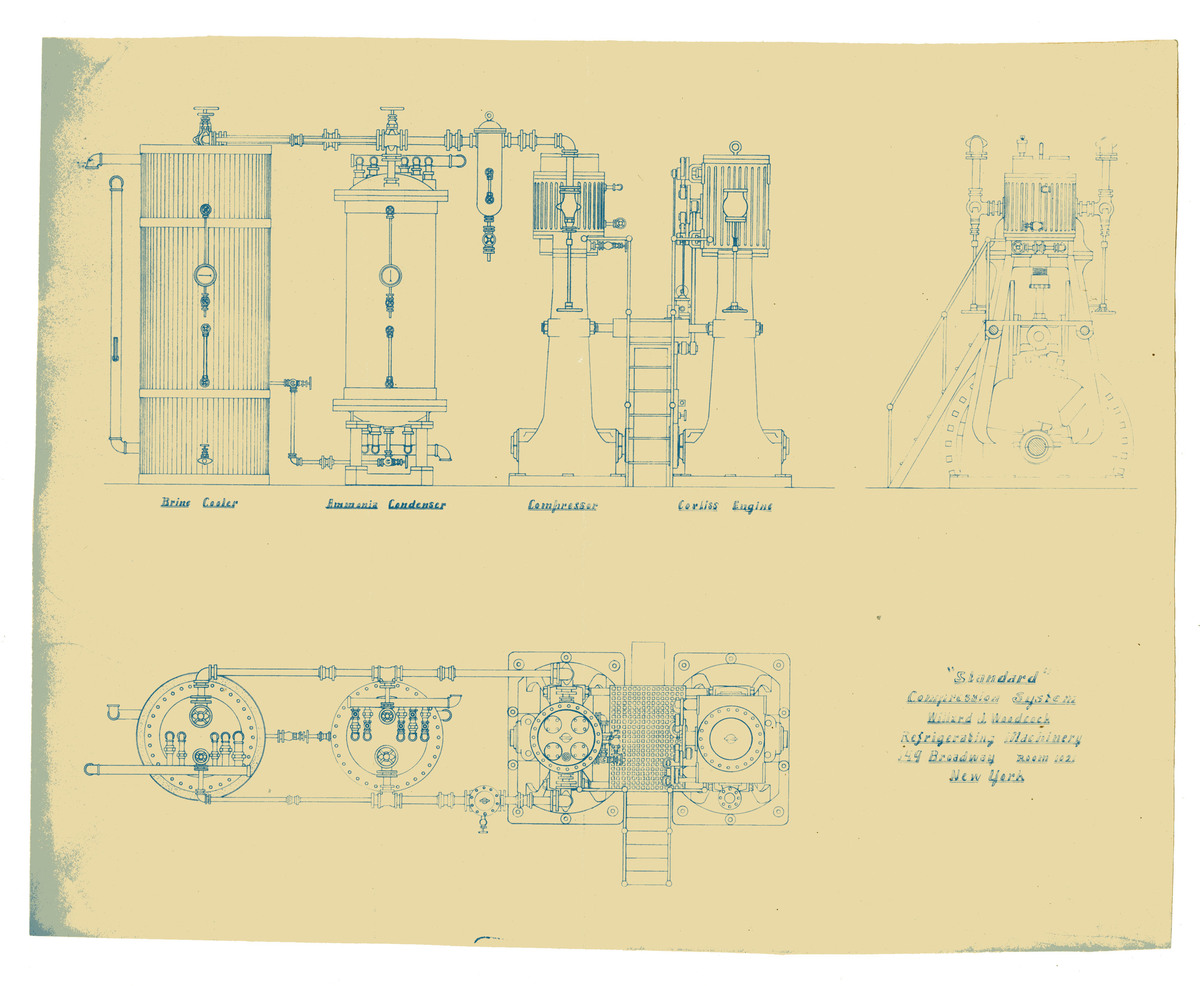 Blueprint for a Compression System, c. 1900