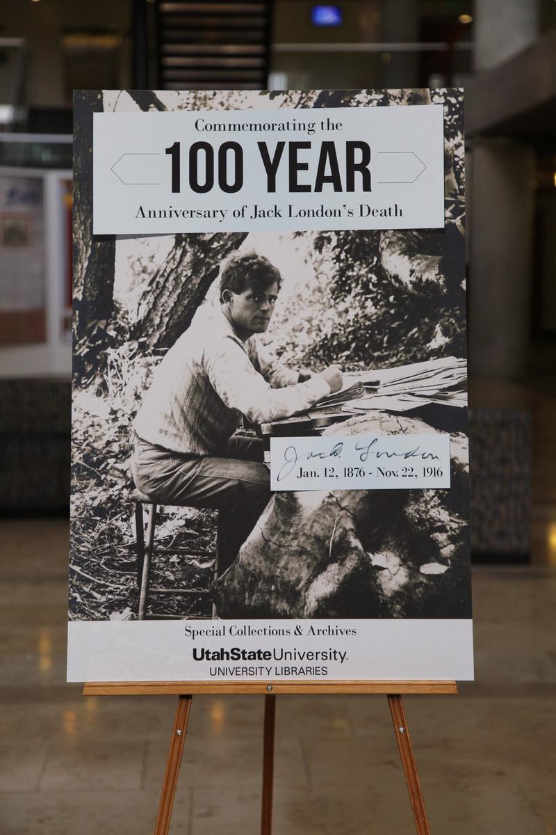 Jack London 100 Exhibit Poster