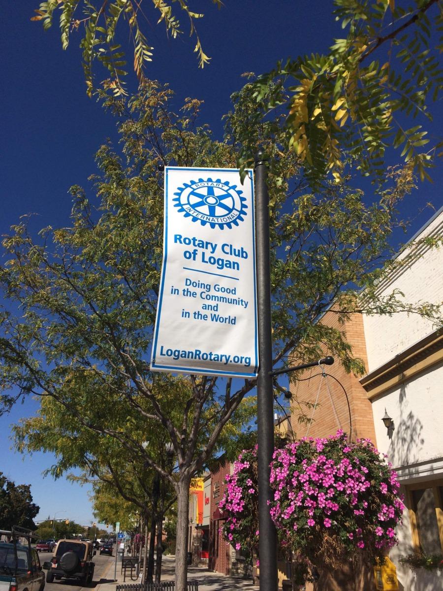 Logan Rotary club Street Pole Banner