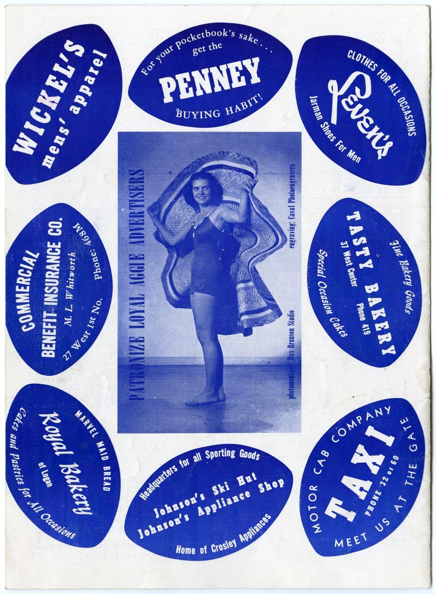 Football program advertisements, 1948