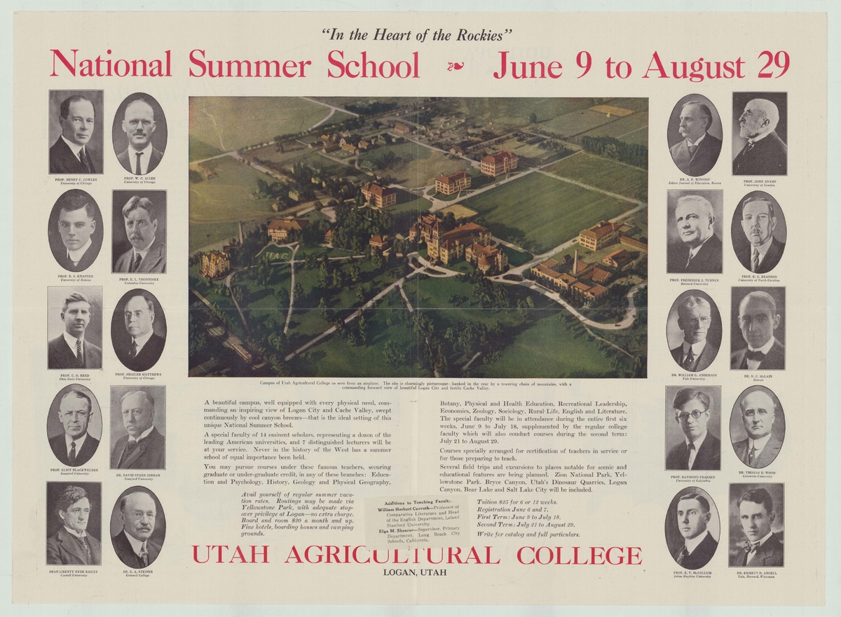 Utah Agricultural College National Summer School flyer, 1924