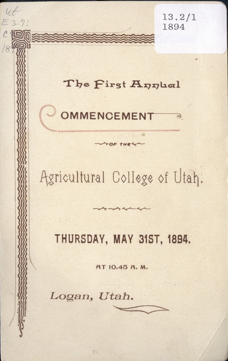 1894 UAC Commencement Program