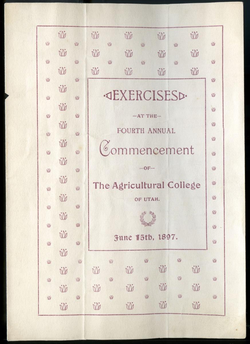1897 UAC Commencement Program