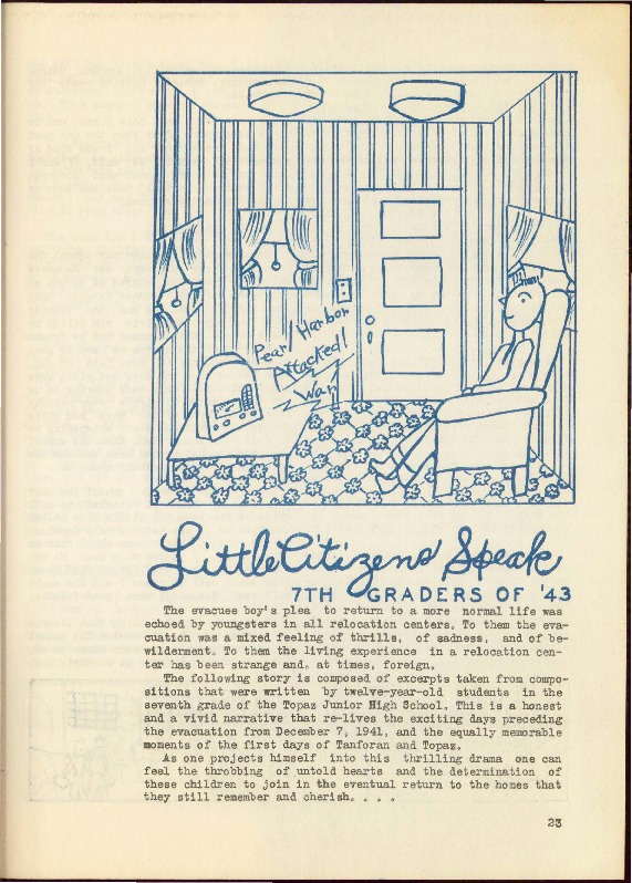 """Little Citizens Speak"""