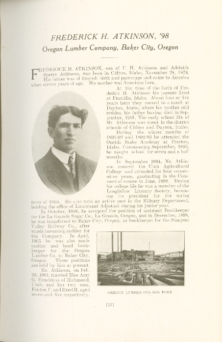 1909 A.C.U. Graduate Yearbook, Page 25