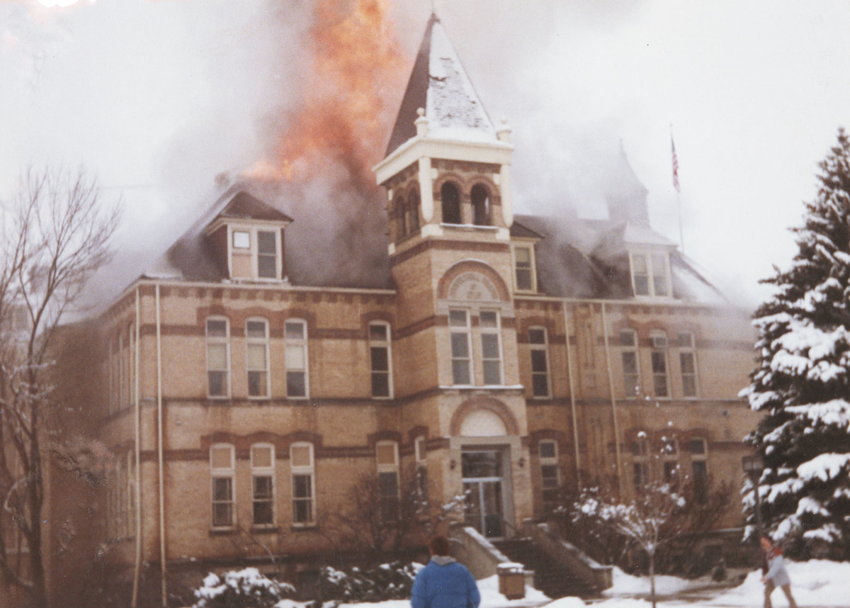 Old Main on Fire, 1983