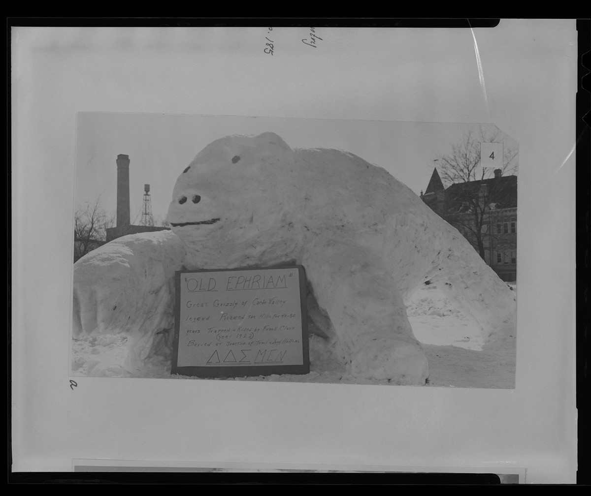 Sculpture of Old Ephraim, negative, 1960s