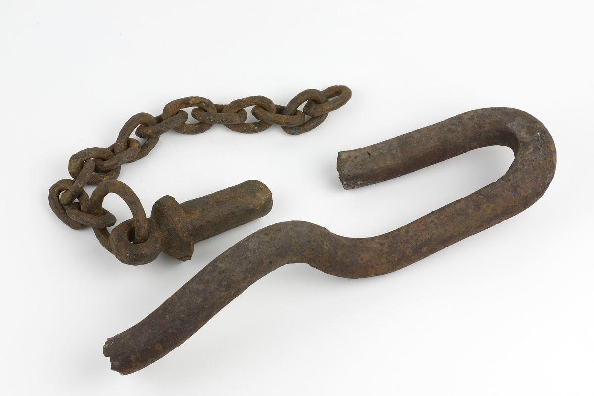 Broken link and pin coupler