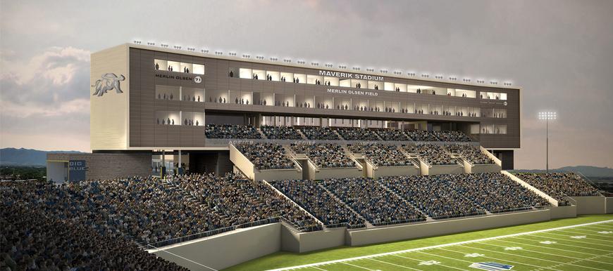 Design concept of Maverik Stadium