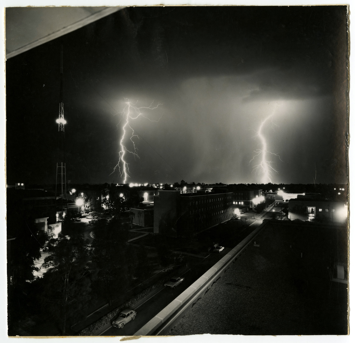 May Swenson, photo of lightning