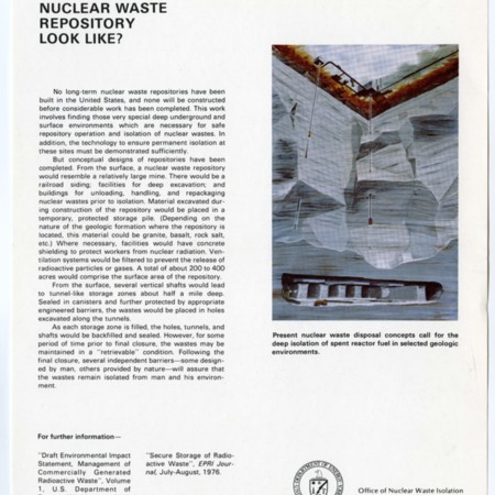 What Might a Nuclear Waste Repository Look Like?