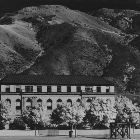 View of the Merrill Library from the northwest, 1940s