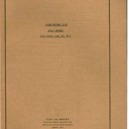 Logan Rotary Club Audit Report, 1956-1957
