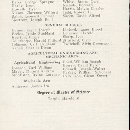 1917 UAC Commencement Program Page 3