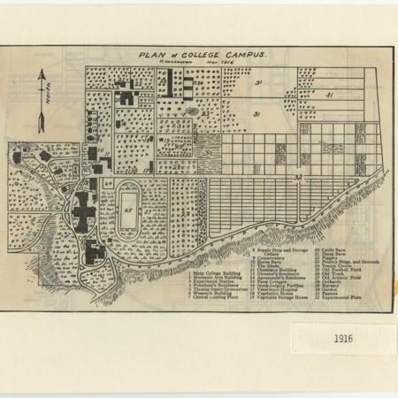 Campus Map, 1916