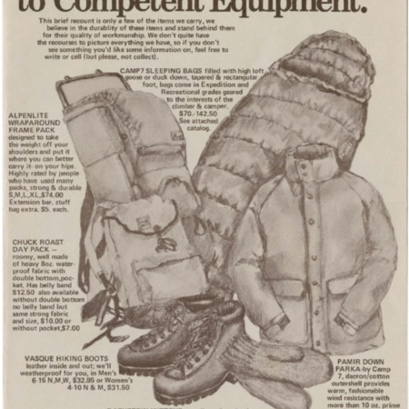 Mountain Traders Guide to Competent Equipment, 1973