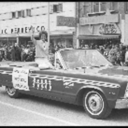 Series of photographs of the 1965 Homecoming parade