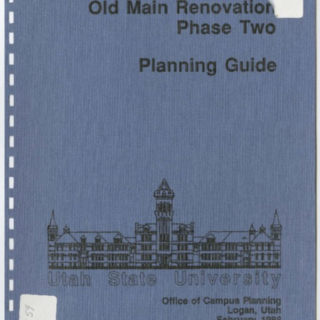 Old Main Renovation Phase Two Planning Guide, 1988
