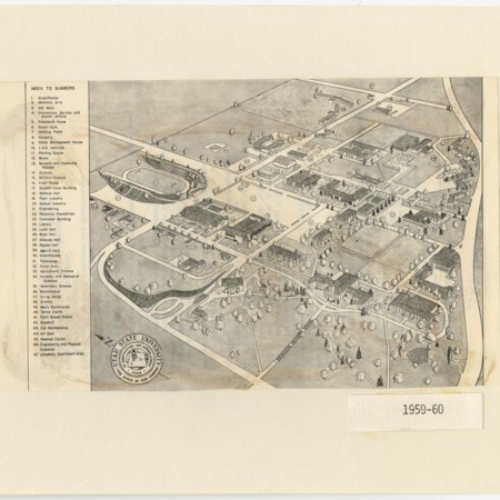 Map of the Utah State University Campus, 1959-1960