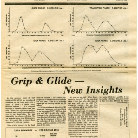 Ski Research News, Spring 1981