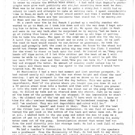 Dolph's account of the winter of 1916-1917 in Bluff