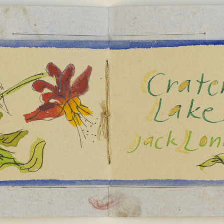 Crater Lake accordion book, page 2
