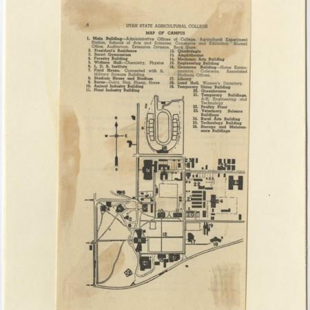 Utah State Agricultural College campus map, 1949-50