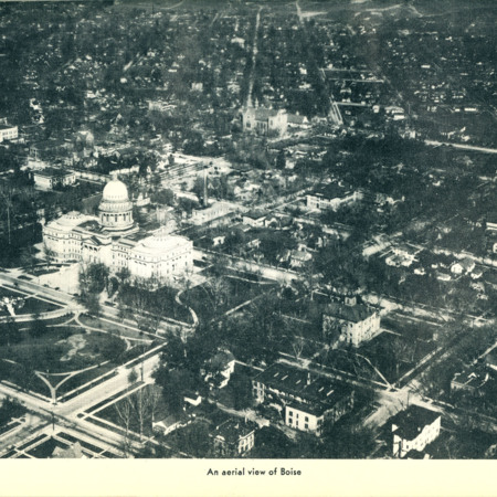 Idaho State Guide Image of an Aerial View of Boise