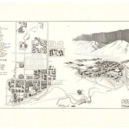 Utah State University Campus Map, c. 1970