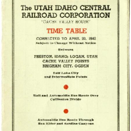 U.I.C. Timetable Pamphlet, April 1942<br />