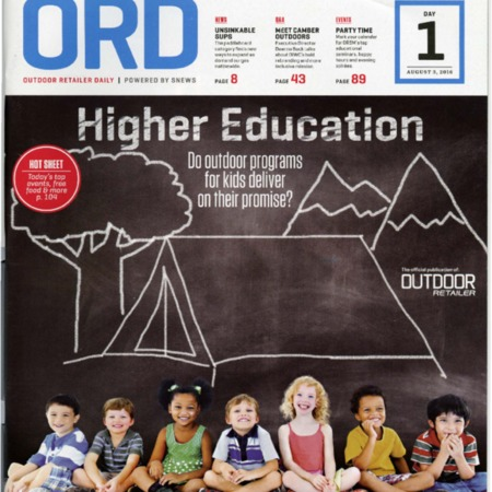 Outdoor Retailer Daily, Higher Education, 2016