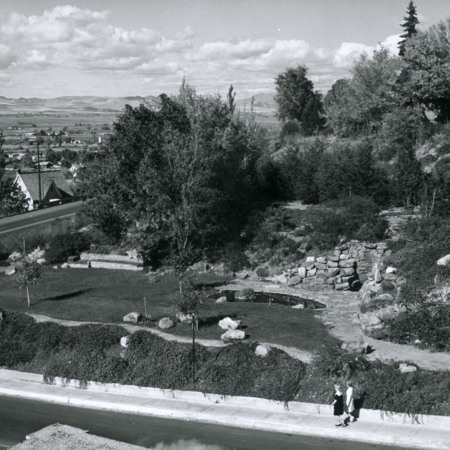 Looking North-West at the President's Garden, 1960s