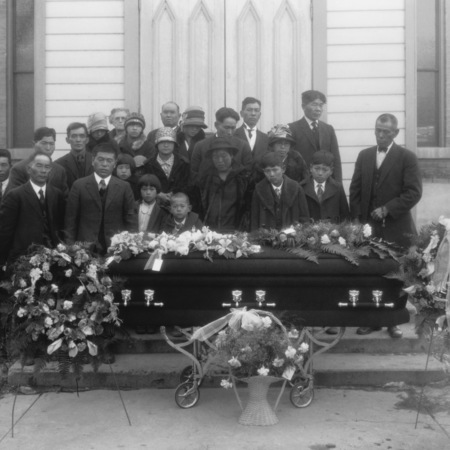 Funeral party of Japanese immigrant Kame Yamasaki, 2