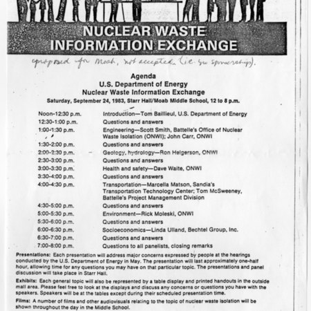 Nuclear Waste Information Exchange