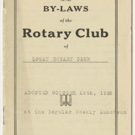 Constitution and By-laws of the Logan Rotary club, 1928