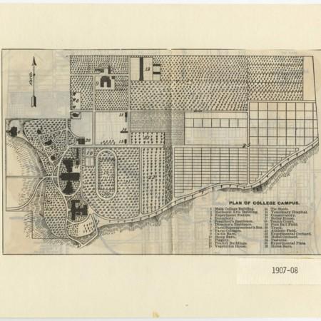 Utah Agricultural College map, 1907-1908