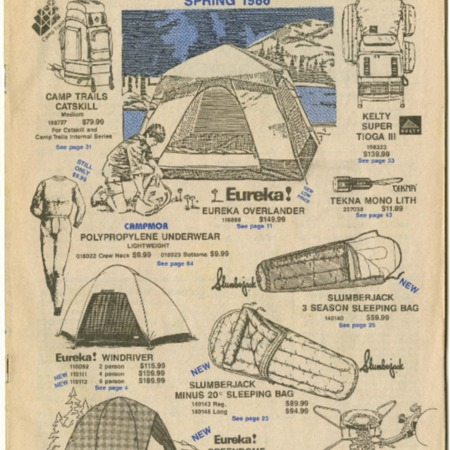 Campmor, Spring 1986