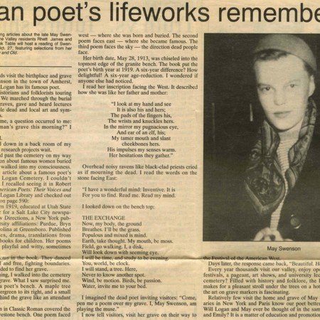 """Logan Poet's Lifeworks Remembered"""