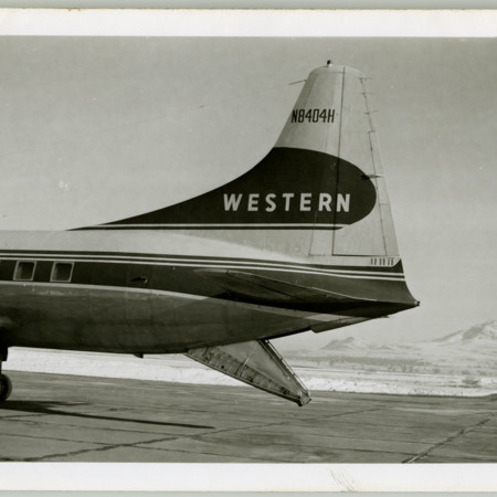 Rear of Western CV-240 Parked at Airport
