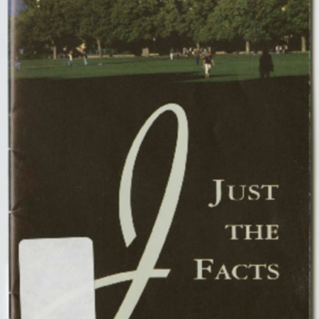 """""""Just the Facts,"""" Utah State University Campus Guide, 2000-2001"""