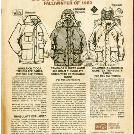 Campmor, Fall/Winter 1983