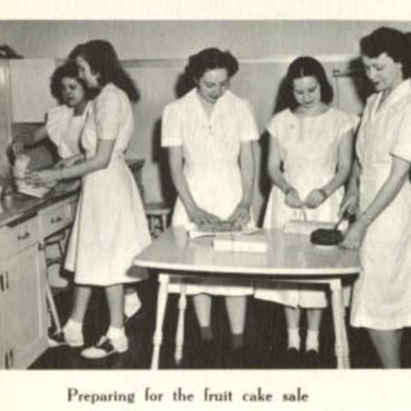 Fruitcake Bake Buzzer Yearbook Photograph 1940s