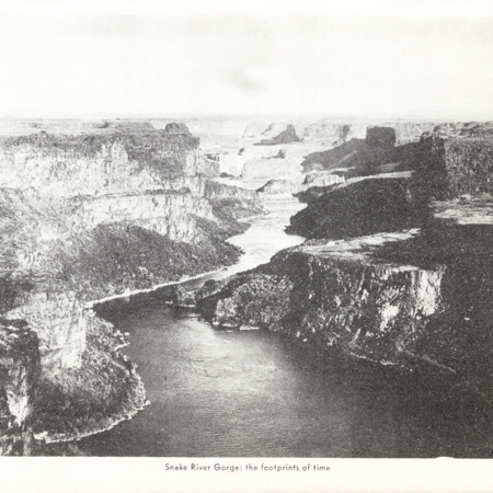 "Idaho State Guide Image of ""the Snake River Gorge: The Footprints of Time"""